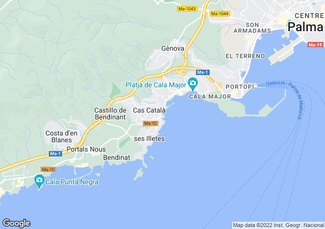 Map for Balearic Islands, Mallorca, C'as Catala