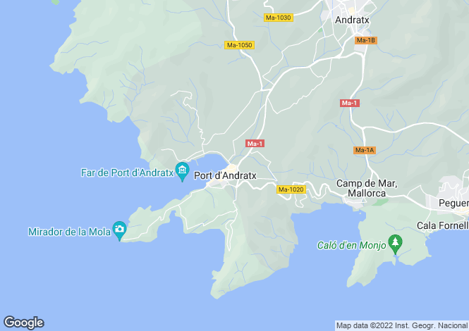 Map for Puerto Andratx, Mallorca, Balearic Islands