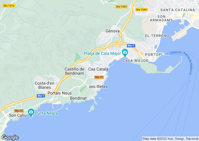Map for Luxury Refurbished House, Cas Catala, Mallorca