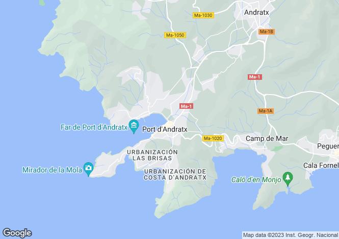 Map for Spain - Balearic Islands, Mallorca, Andratx