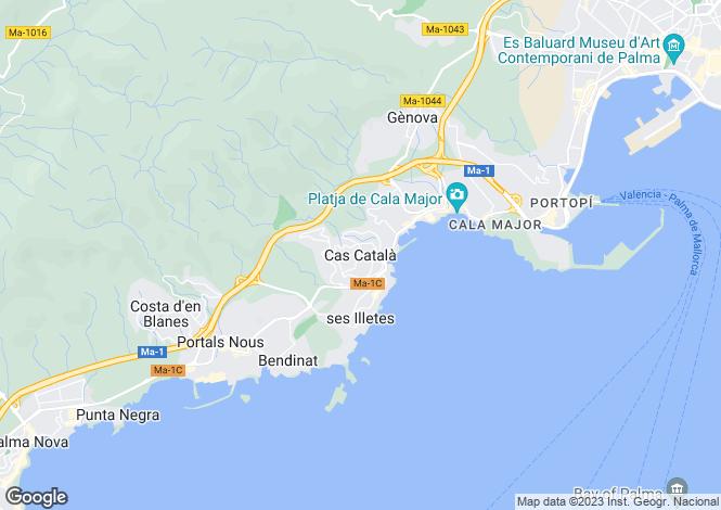 Map for Spacious Penthouse, Cas Catala, Mallorca