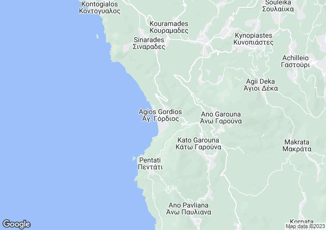 Map for Agios Gordis, Corfu, Ionian Islands