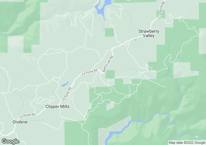 Map for California, Strawberry Valley