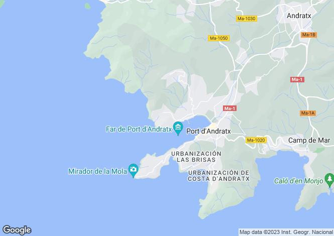 Map for Puerto Andratx, Mallorca, Spain