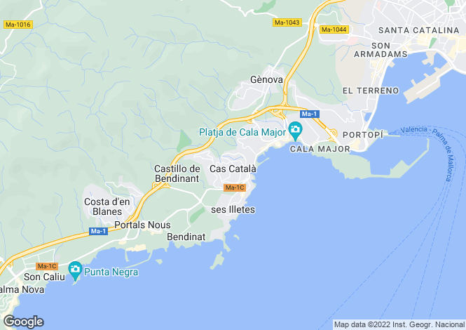 Map for Cas Català, Mallorca, Balearic Islands