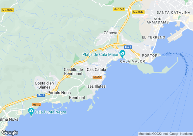 Map for Spain - Balearic Islands, Mallorca, Cas Català