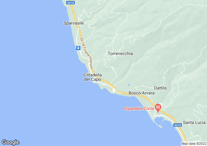 Map for Calabria, Cosenza, Belvedere Marittimo