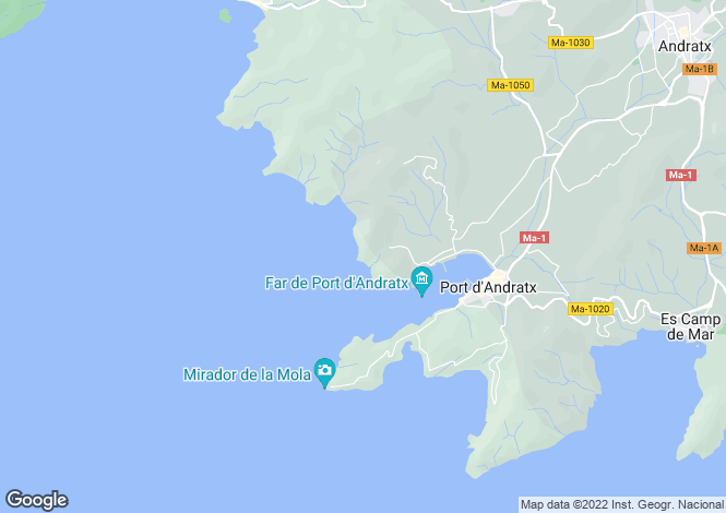 Map for Spain - Balearic Islands, Mallorca, Puerto Andratx