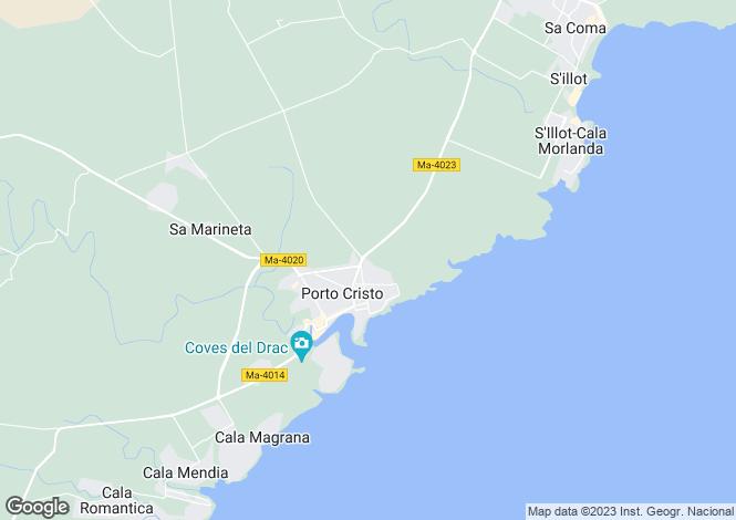 Map for Porto Cristo, Mallorca, Balearic Islands