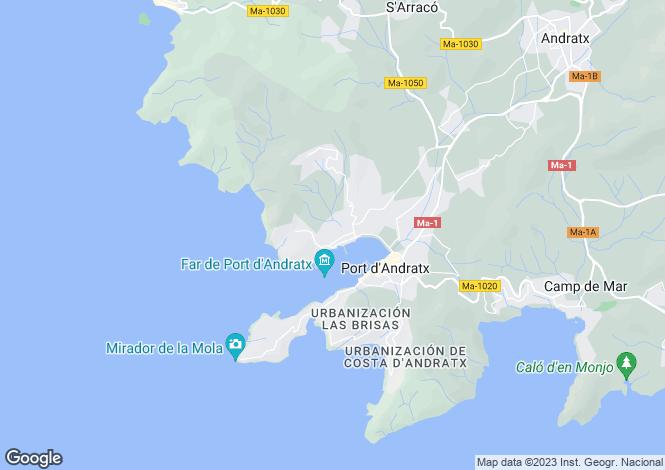 Map for Port d`Andratx, Mallorca, Balearic Islands