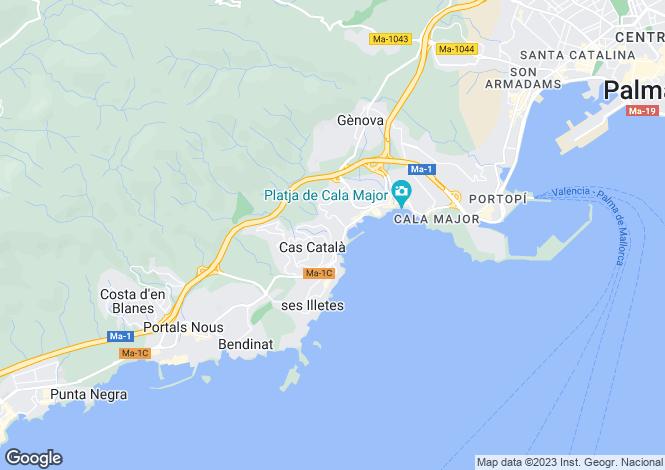 Map for Bendinat, Mallorca, Balearic Islands