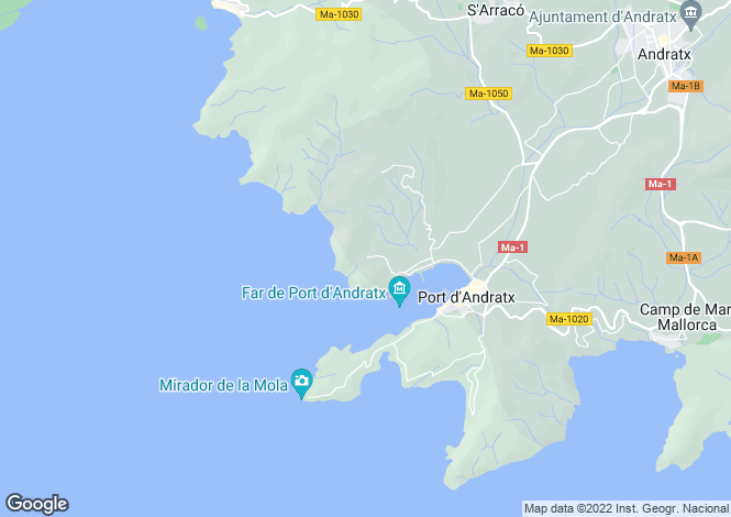 Map for New Apartment With Sea Views, Cala Moragues, Mallorca
