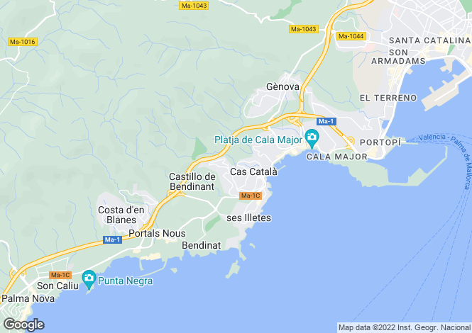 Map for Cas Catala, Mallorca, Spain