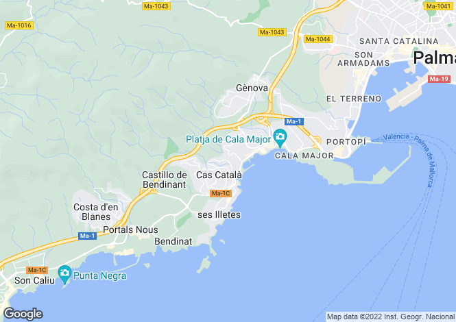 Map for Cas Catala, Spain