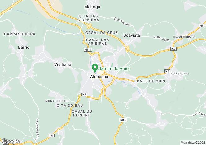 Map for Leiria, Alcobaça