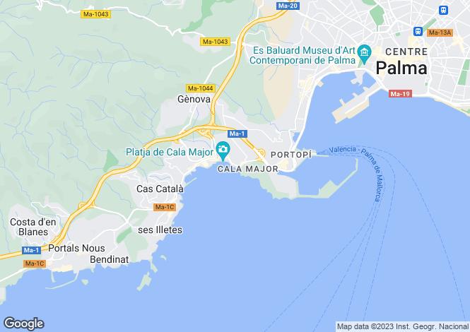 Map for Balearic Islands, Mallorca, San Agustin