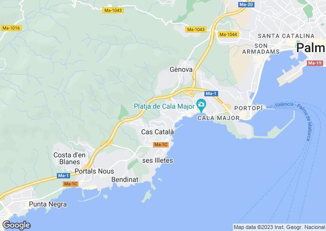 Map for Sant Agusti, Mallorca, Balearic Islands