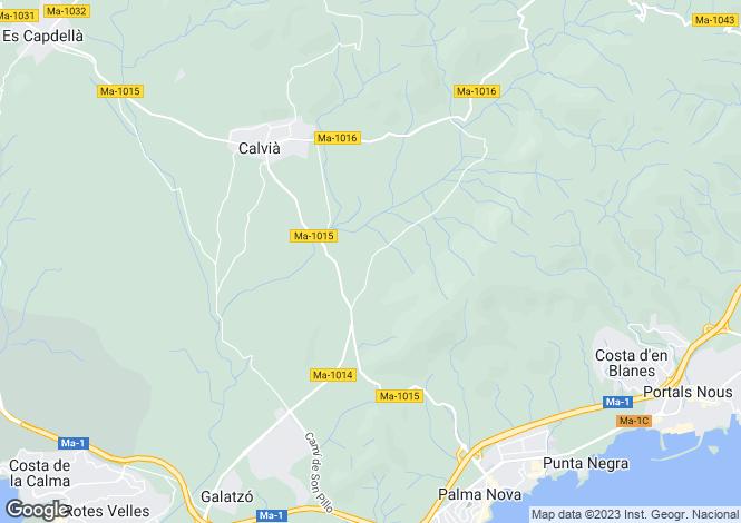 Map for Balearic Islands, Mallorca, Cala Llamp