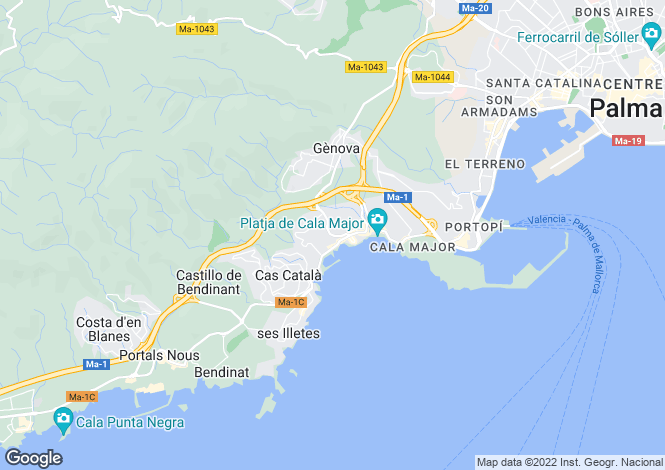 Map for Bendinat, Mallorca, Balearic Islands