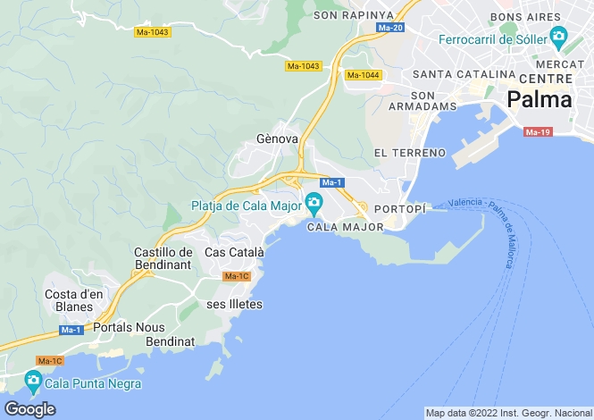 Map for Sant Agusti, Spain