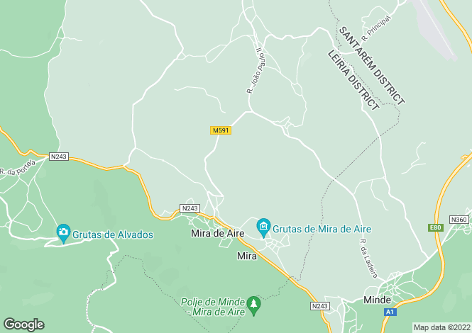 Map for Portugal,Leiria,Mira de Aire
