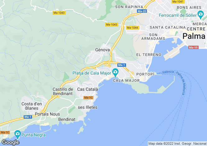 Map for San Agustin, Mallorca, Spain