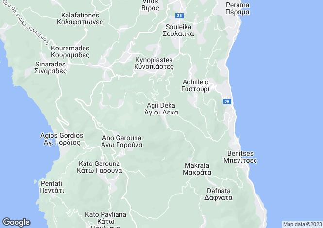 Map for Gastouri, Corfu, Ionian Islands