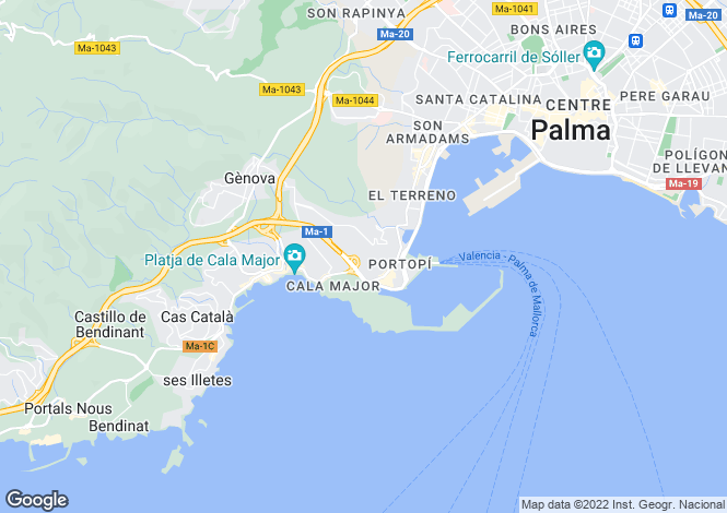 Map for Palma, Spain