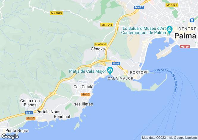 Map for San Agustin, Mallorca, Spain