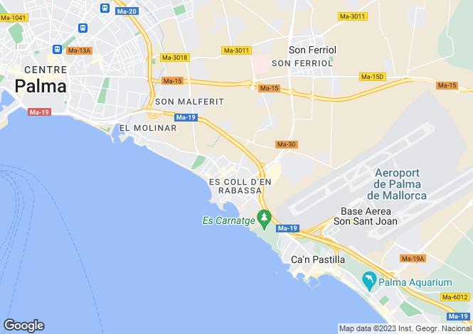 Map for 07007, Palma de Mallorca - Ciudad Jardin, Spain