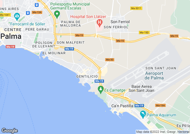 Map for Mallorca, Molinar, Portixol & Molinar