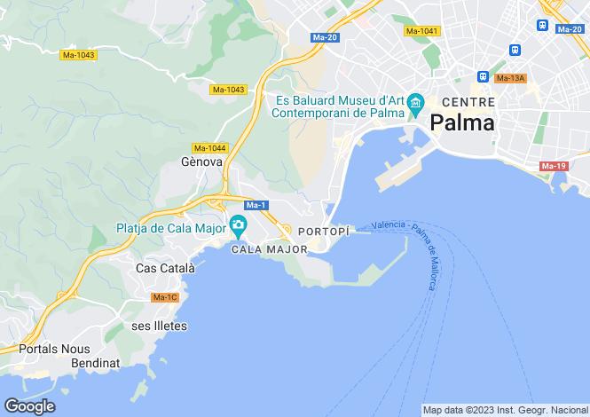 Map for Beautiful House, La Bonanova, Palma de Mallorca