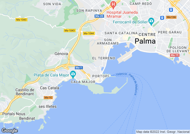 Map for 07015, Palma de Mallorca, Spain