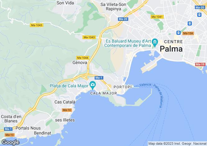 Map for Bonanova, Mallorca, Spain