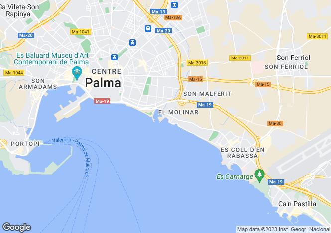 Map for Luxury Apartment In Portixol, Palma de Mallorca, Mallorca