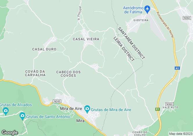 Map for Leiria, Batalha