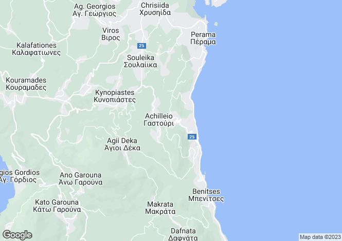 Map for Ionian Islands, Corfu, Gastouri