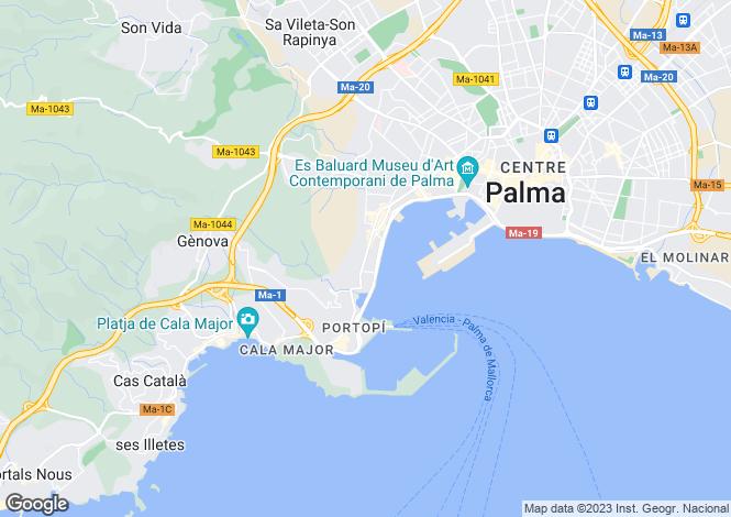 Map for Private Idyllic Villa, El Terreno, Palma de Mallorca