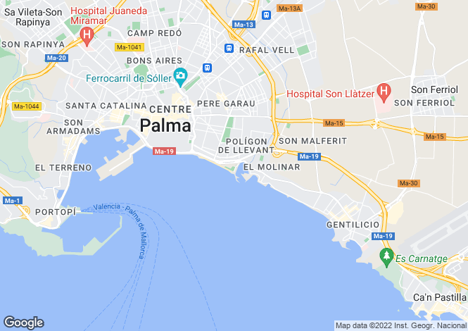 Map for Portixol, Spain
