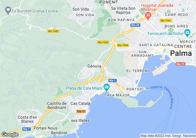 Map for Genova, Spain