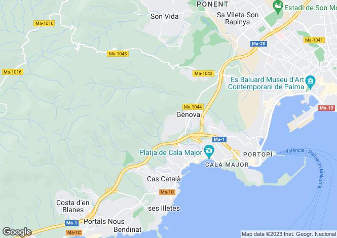 Map for Gènova, Mallorca, Balearic Islands