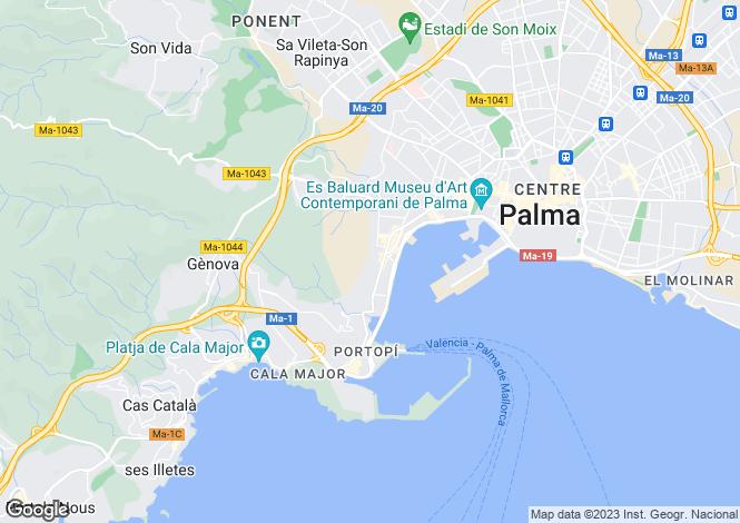 Map for El Terreno, Mallorca, Balearic Islands
