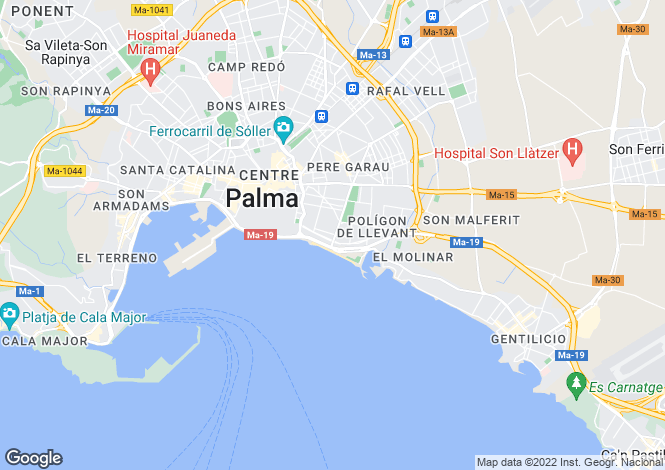Map for Portixol, Mallorca, Balearic Islands