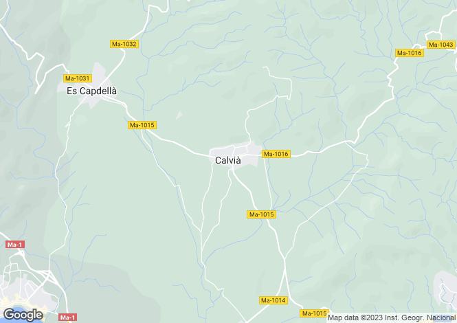 Map for Calvia, Mallorca, Spain