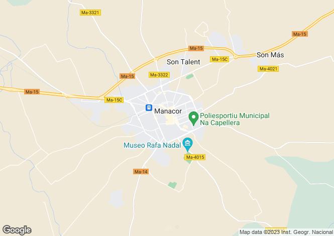 Map for Manacor, Spain