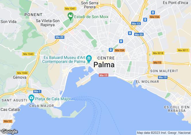 Map for Balearic Islands, Mallorca, Palma Casco Antiguo