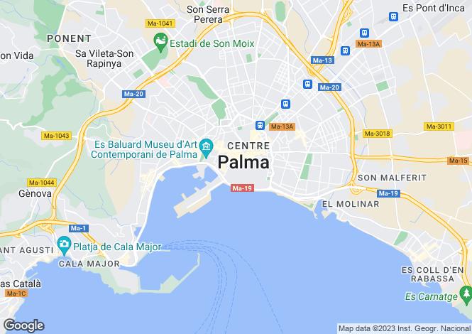 Map for Apartment Close To The Cathedral, Palma de Mallorca, Mallorca