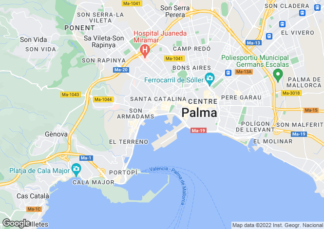 Map for Townhouse In Prime Location, Es Jonquet, Palma de Mallorca