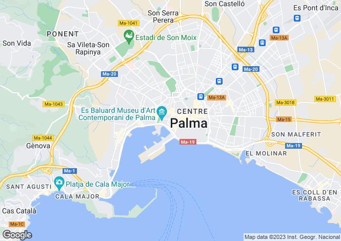 Map for Balearic Islands, Mallorca, Alcudia