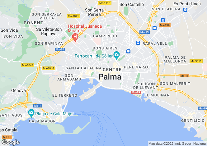 Map for Mallorca, Palma de Mallorca, Catedral - Casco Antiguo